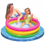 Intex Sunset Glow Inflatable Colorful Baby Swimming Pool, Multicolored