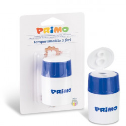 Primo Double Pencil Sharpener With Container