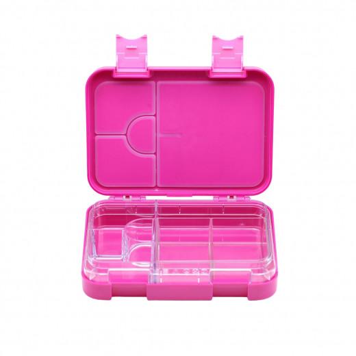 بينتو لانش بوكس, 6 أقسام مانعة للتسرب، اللون الزهري